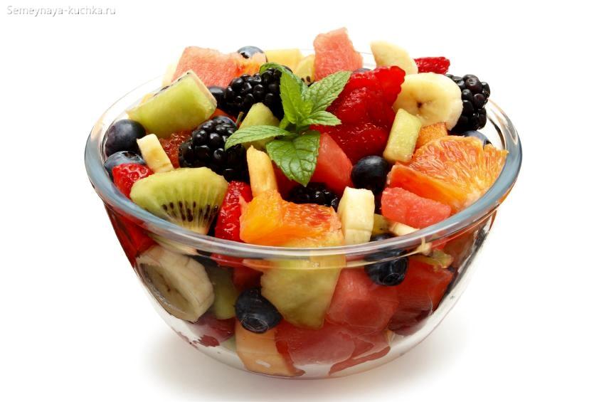 картинка фрукты в салате микс