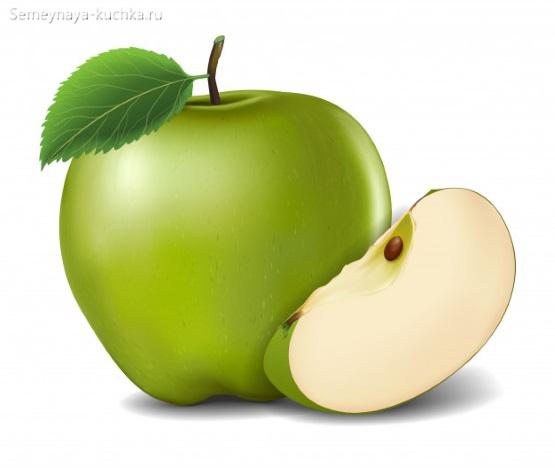 картинка фрукт яблоко зеленое