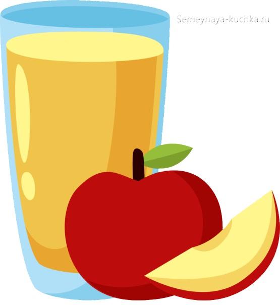картинка фруктовый яблочный сок