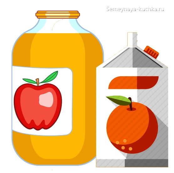 картинка сок в из фруктов в пачке и банке
