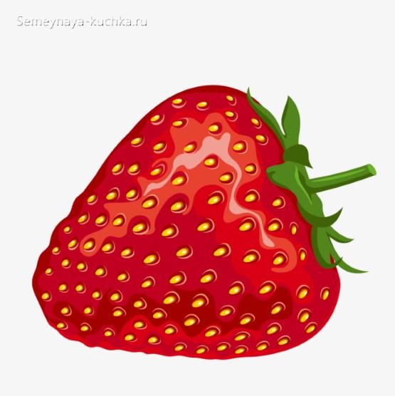 картинка фрукт ягода клубника для детей