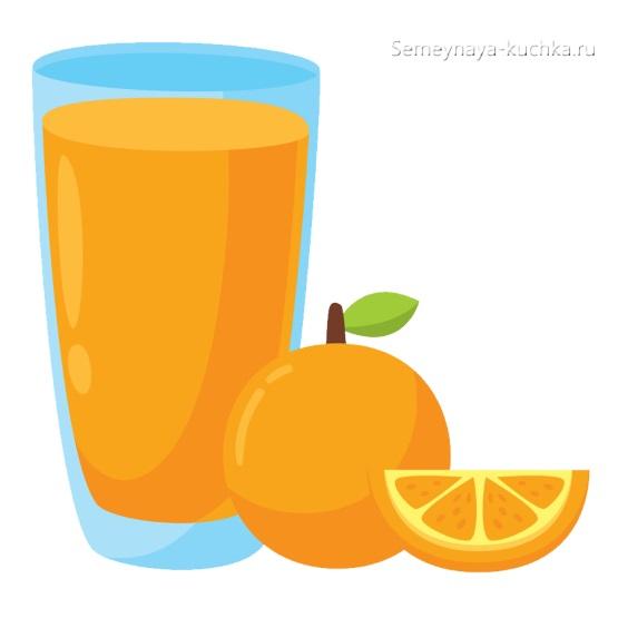 картинка фруктовый сок из апельсина
