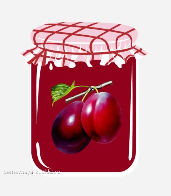 картинка для детского садаваренье из слив компот