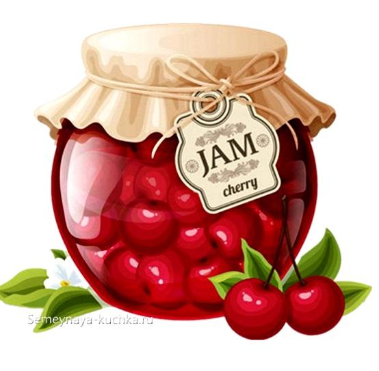 картинка фруктовое варенье из вишен