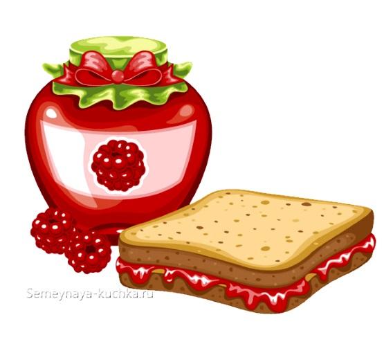 картинка бутерброд с вареньем для детского сада