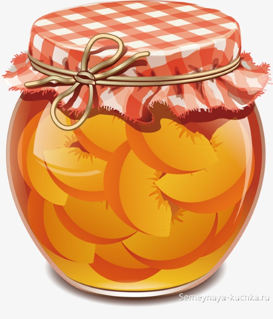 картинка для детей варенье из абрикосов