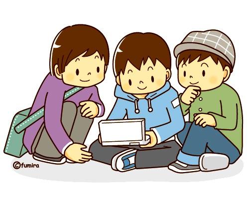 картинка дети играют в планшете