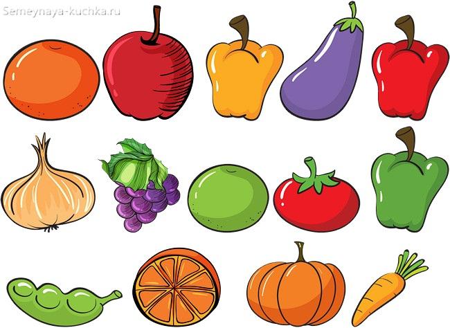 плакат с овощами для дидактической игры
