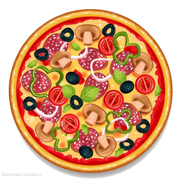 картинка пицца с овощами