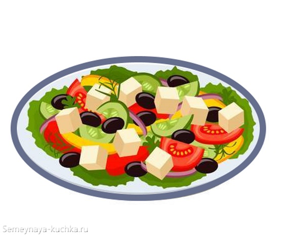 картинка овощи в салате