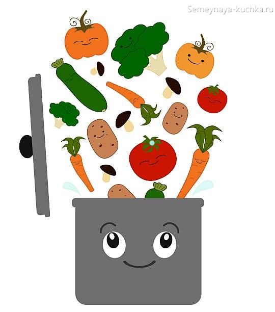 картинка суп из овощей