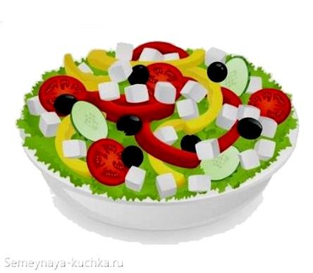картинка овощной салат