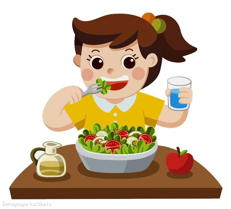 картинка девочка есть овощи витамины