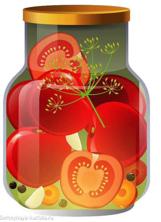 картинка для детей овощи в банке засолка помидор