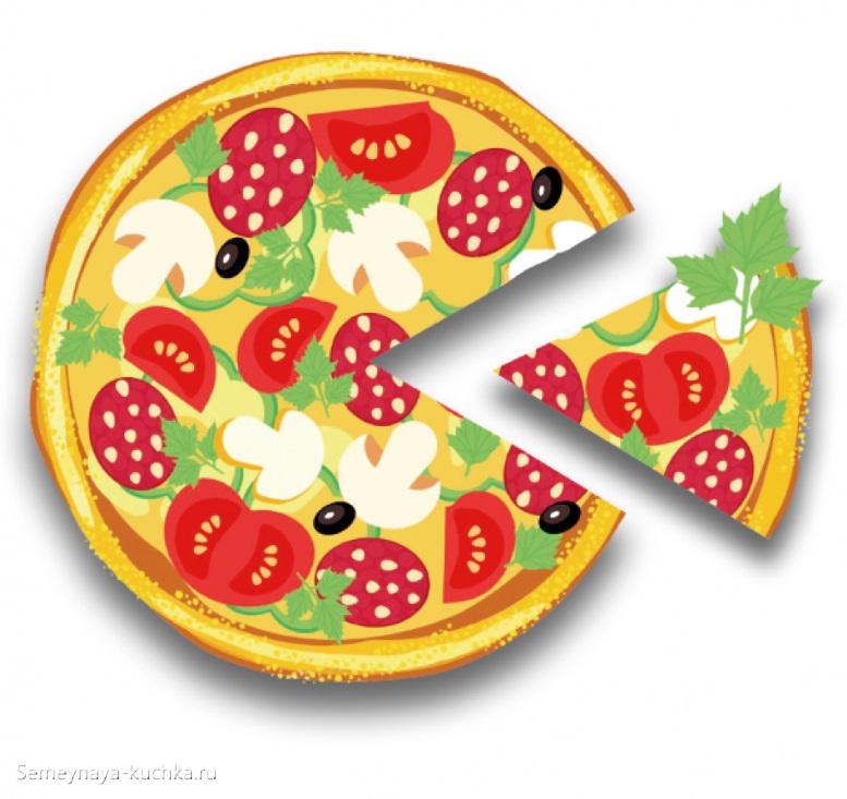 картинка овощи на пицце