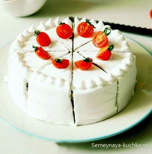 картинка овощи на торте