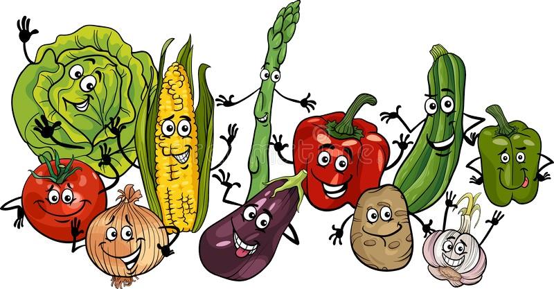 веселые овощи картинка для детей