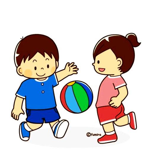 картинка дети играют в мяч