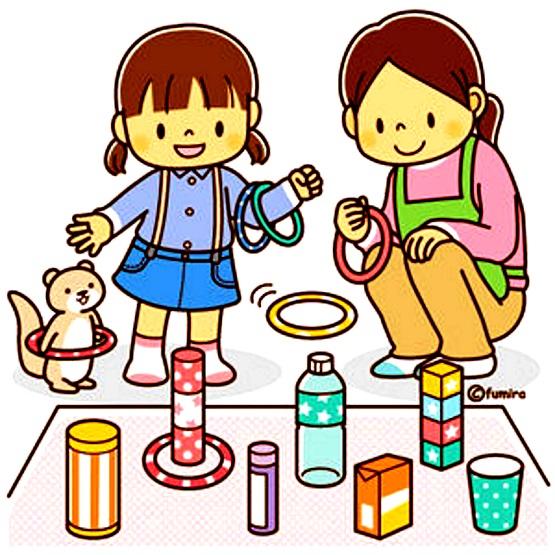 картинка мама с дочкой играет