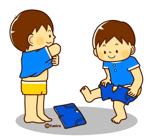 картинка дети одеваются после сна