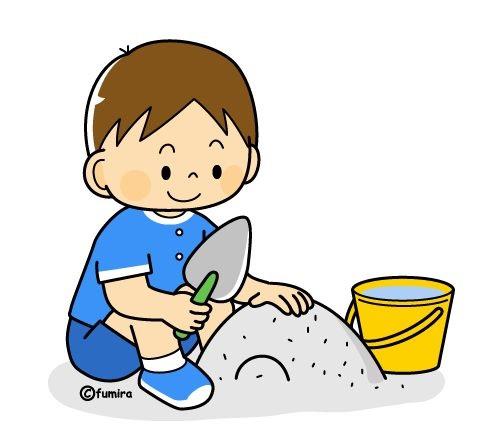 картинка дети играют в песок