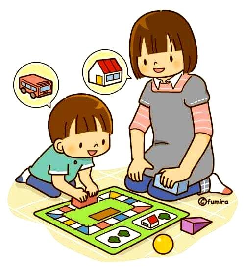 картинка ребенок играет с мамой