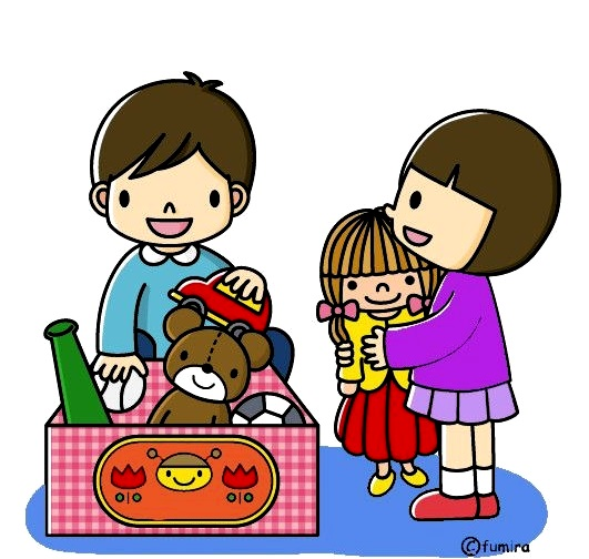 картинка дети играю с игрушками