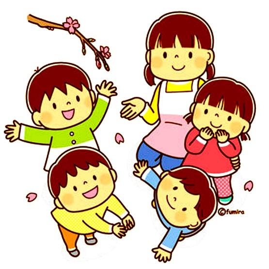 картинка дети радуются весне