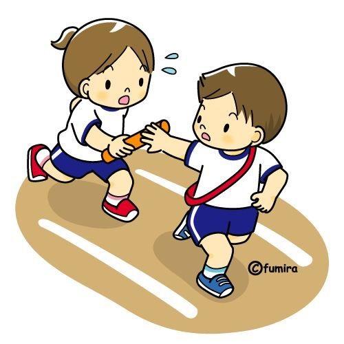 картинка дети бегут эстафету