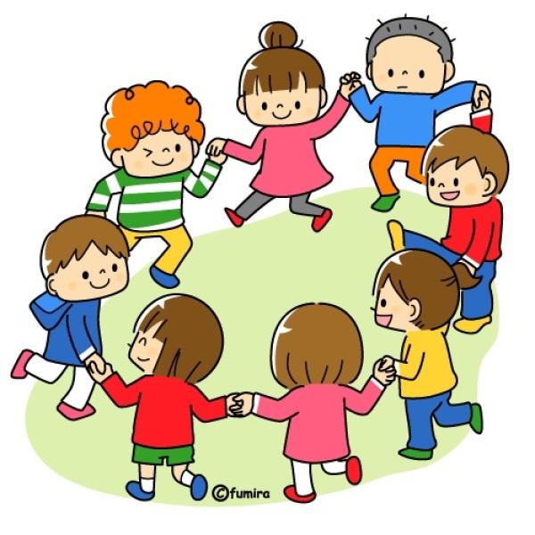 картинка дети танцуют в кругу