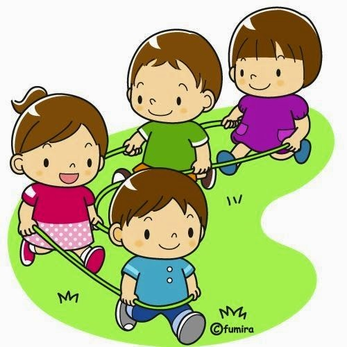 картинка дети гуляют на воздухе