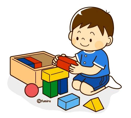 картинка дети играют в кубики