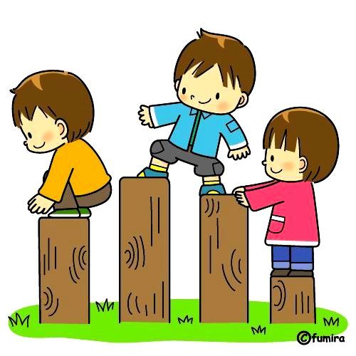 картинка дети на прогулке лазают