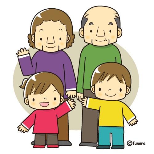 картинка дети приехали к дедушке и бабушке