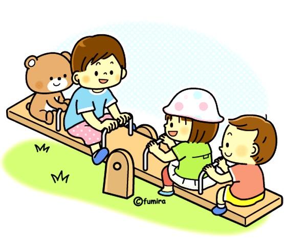 картинка дети на качелях доске