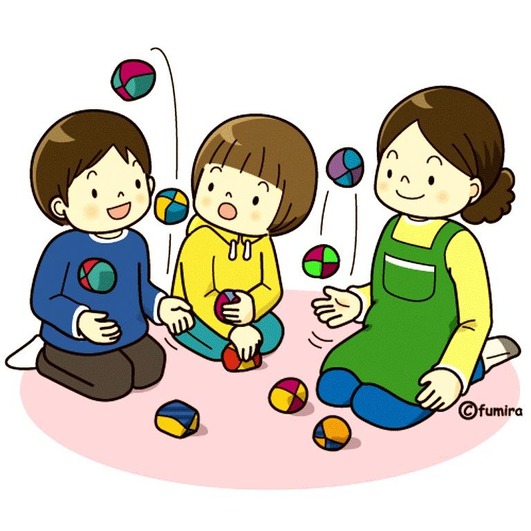 картинка дети играют с мячиками