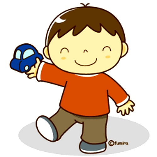 картинка мальчик с машинкой