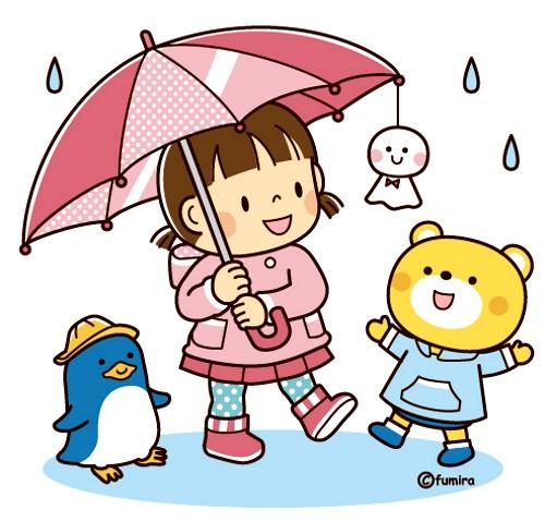 картинка дети под дождем