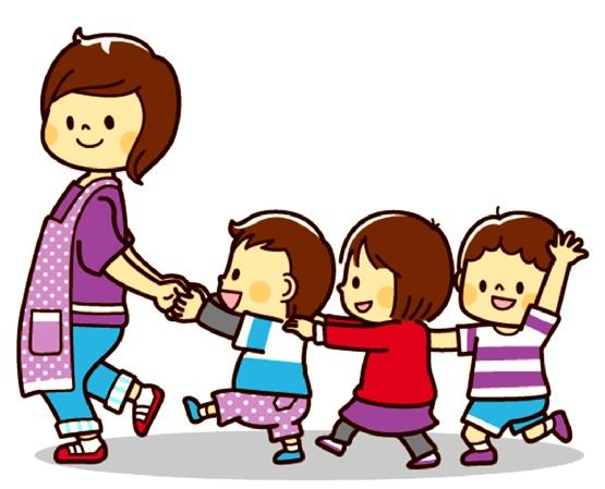 картинка дети идут за воспитателем паровозиком