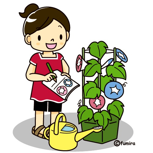 картинка дети наблюдают за природой