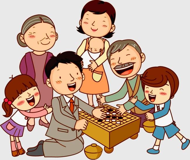 картинка семья играет дома