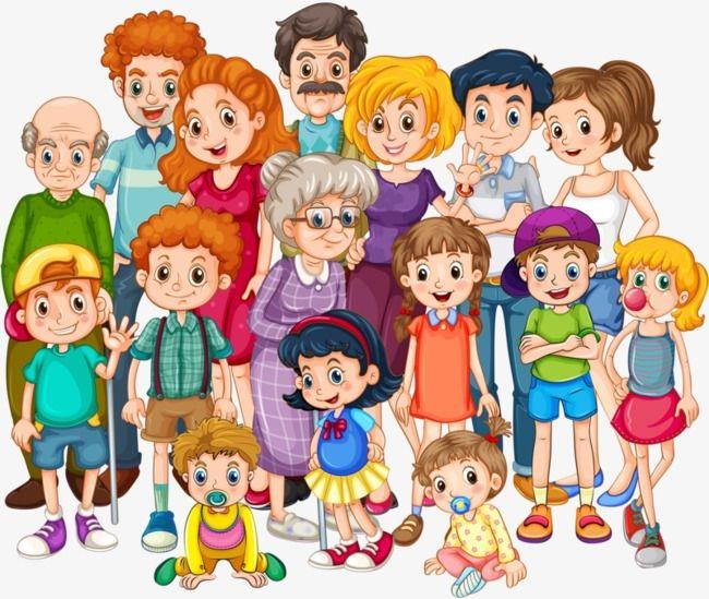 картинка большая семья