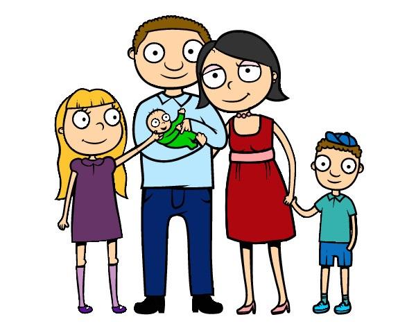 картинка семья с тремя детьми