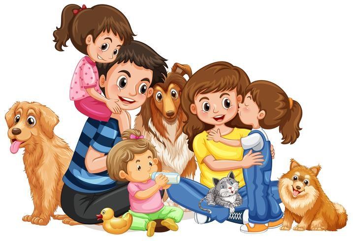 картинка семья в кучке