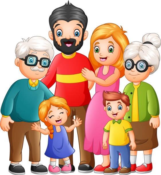 картинка семья из 6 человек
