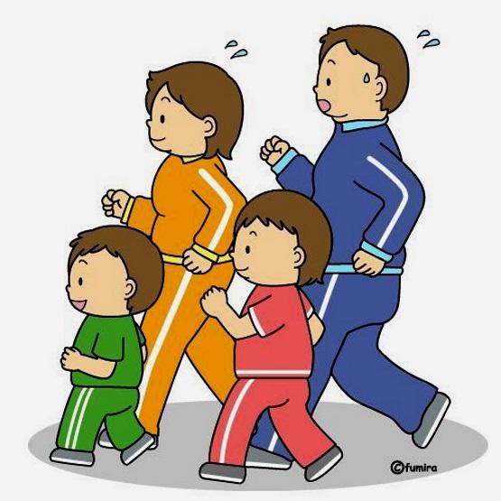 картинка спортивная семья
