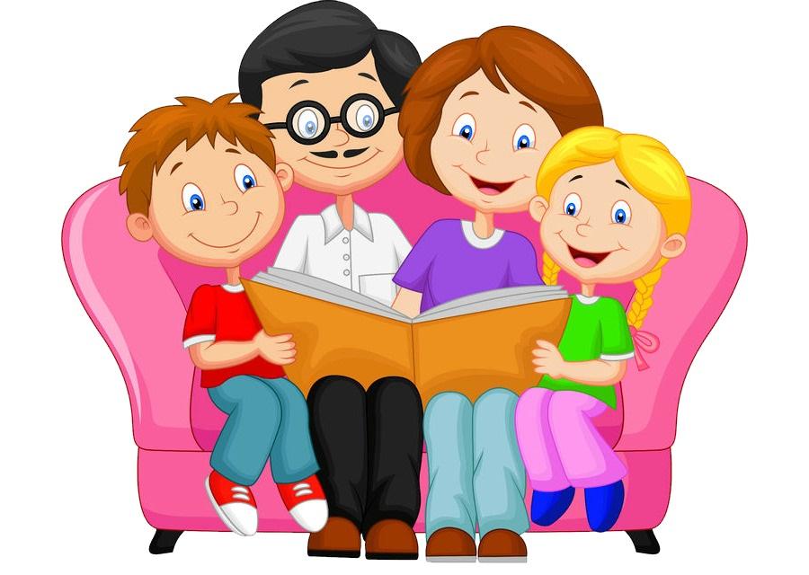 картинка семья на диване