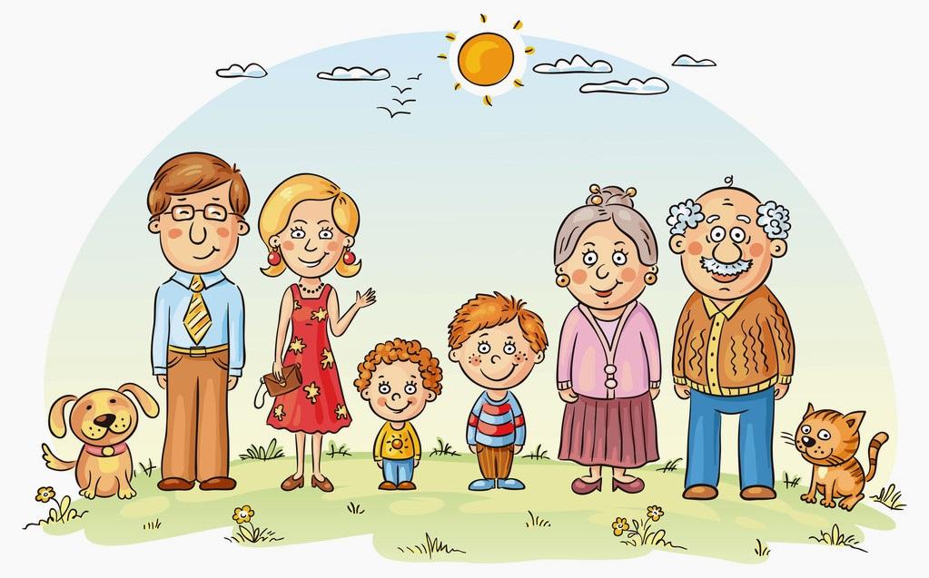 картинка семья в линию
