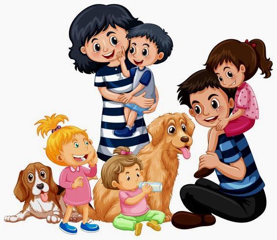 картинка семья играет