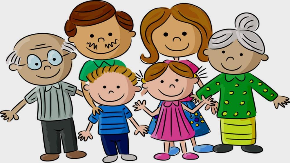 картинка дружная семья
